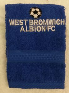 WEST BROMWICH ALBION PERSONALISED FACE CLOTH